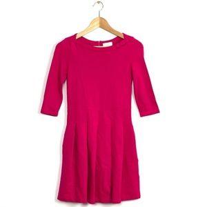Kate spade / Selma  hot pink bow box pleat dress